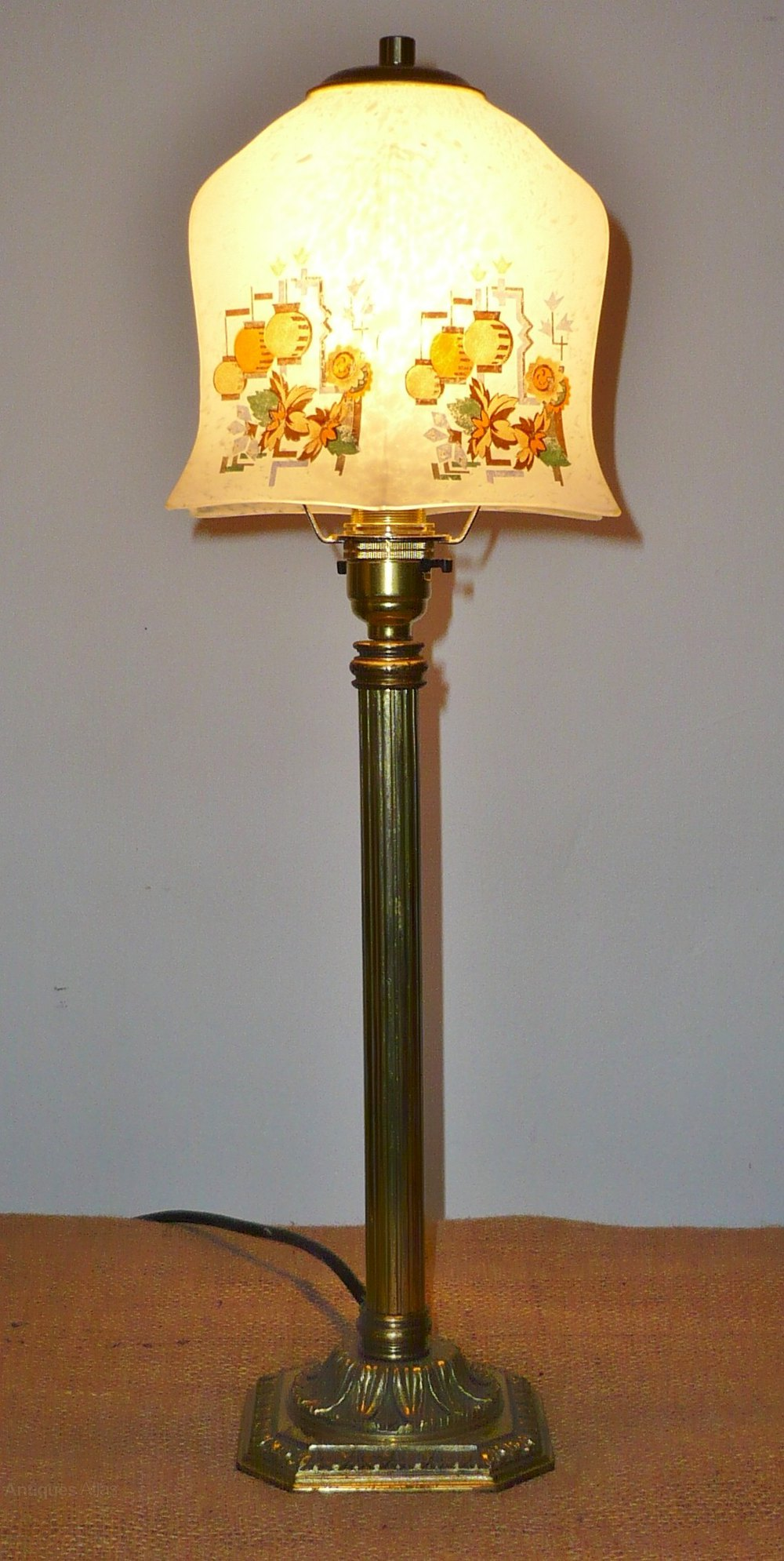Antiques Atlas 1920s Brass Table Light With Chinese