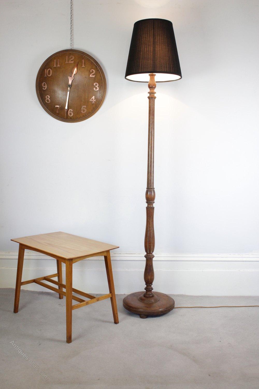 Antiques Atlas 1930 S Limed Oak Standard Floor Lamp