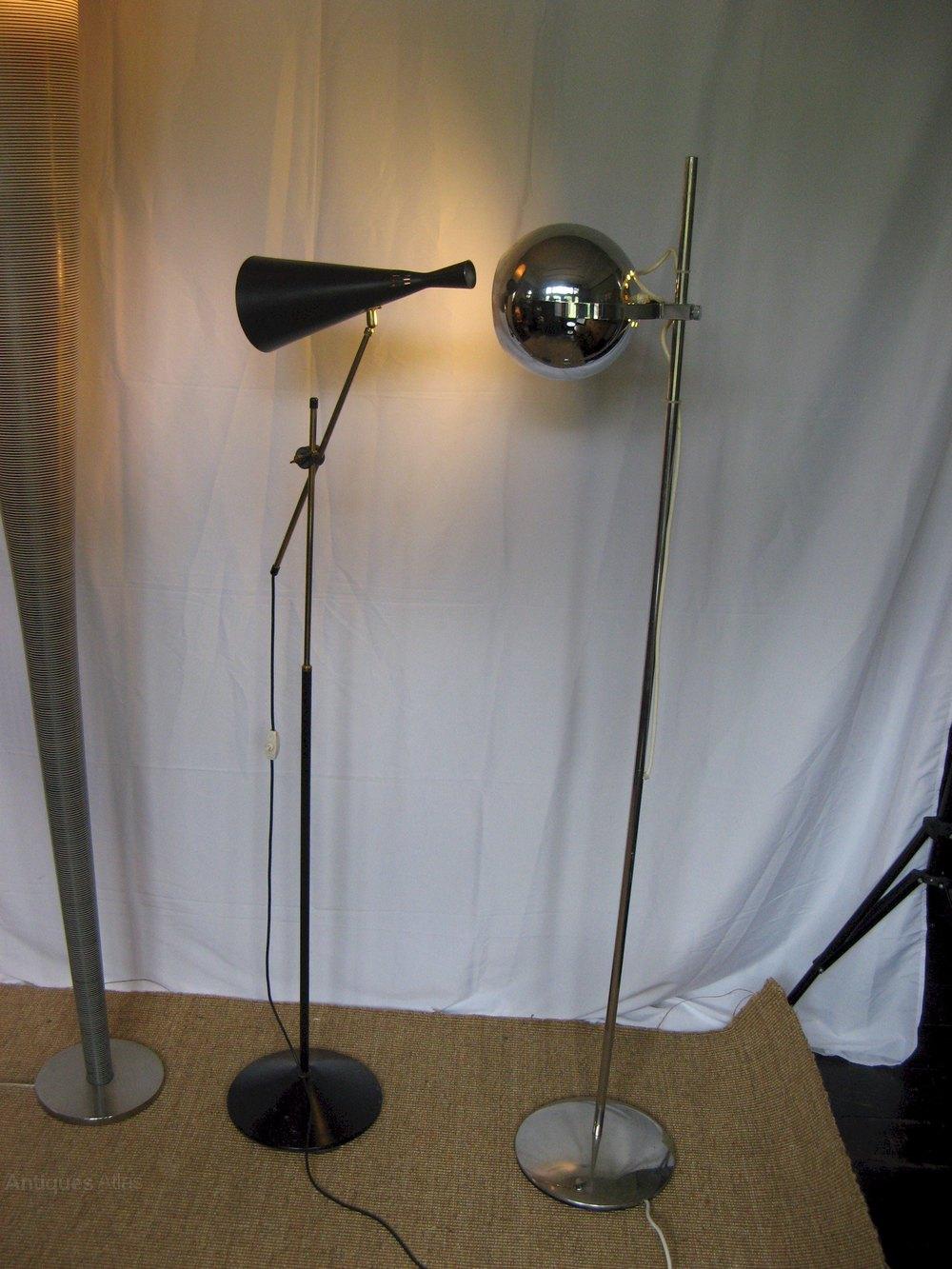 Antiques atlas 1970 39 s chrome floor lamp for 1970s floor lamps