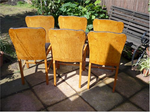 6 art deco dining chairs antiques atlas art deco dining chairs