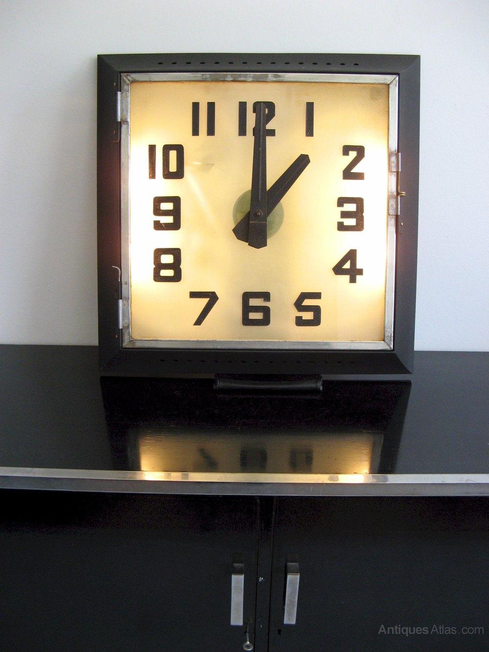 Antiques Atlas Art Deco Rex Cinema Clock
