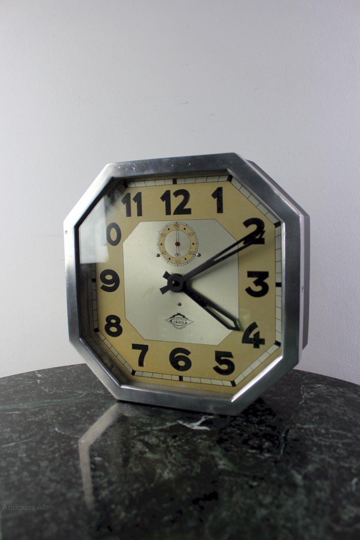 Antiques Atlas Art Deco Chrome Clock By Electric Irod