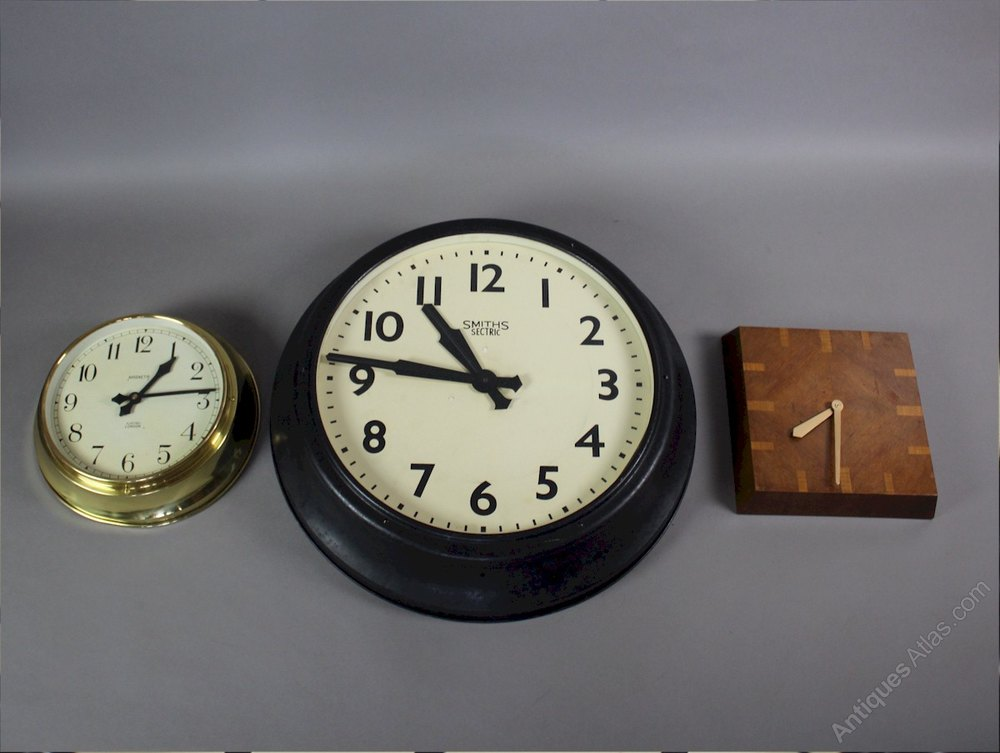 Antiques Atlas Art Deco Wall Clock By Ferranti With
