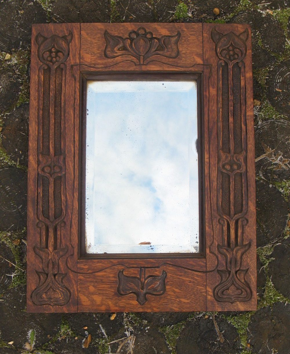 Arts and crafts mirrors - Arts And Crafts Style Mirrors Arts And Crafts Mirrors Art Nouveau Carved Oak Mirror Arts