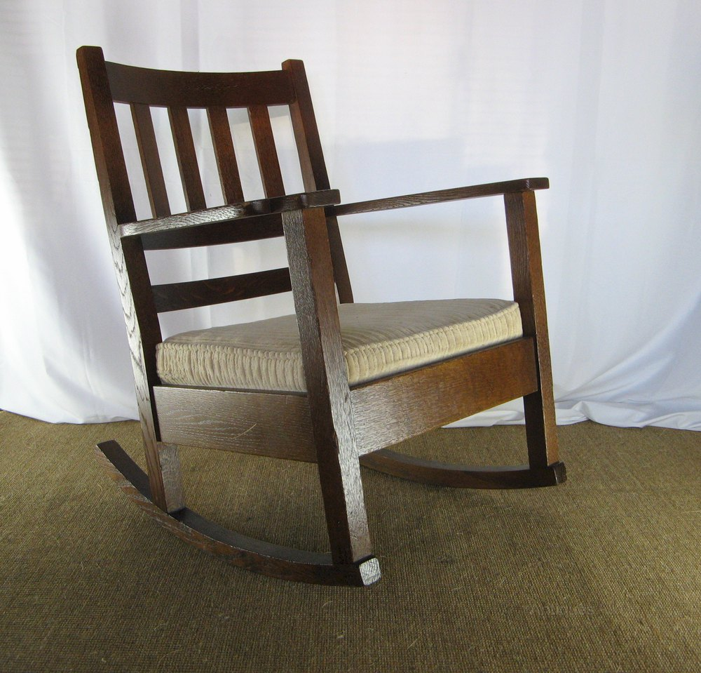 arts and crafts mission rocking chair antiques atlas