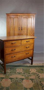 Antiques atlas furniture maker arthur simpson of kendal for Arts and crafts furniture makers
