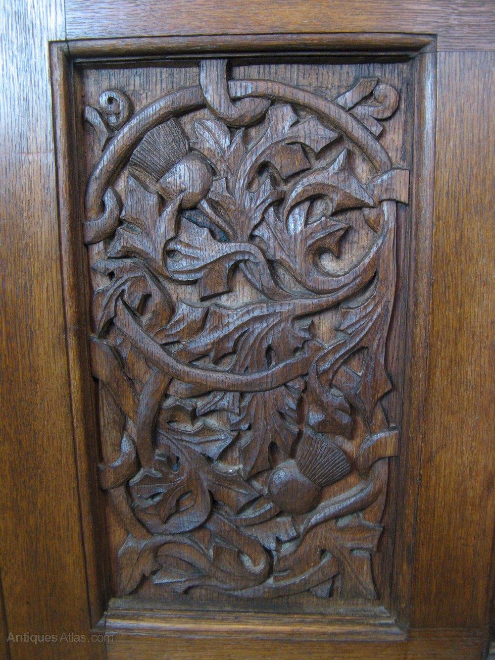 Arts And Crafts Carved Oak Blanket Box 1912 Antiques Atlas