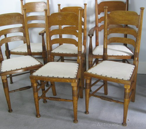 Arts and crafts dining chairs by william birch antiques atlas - Arts and crafts dining room furniture ...