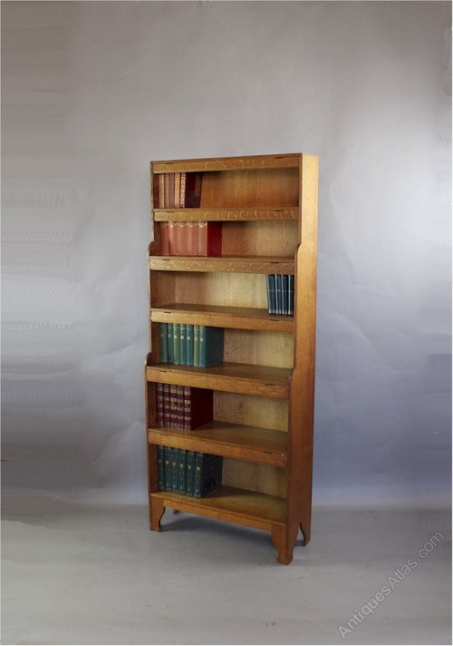 Arts and crafts oak bookcase by arthur simpson antiques for Arts and crafts bookcase