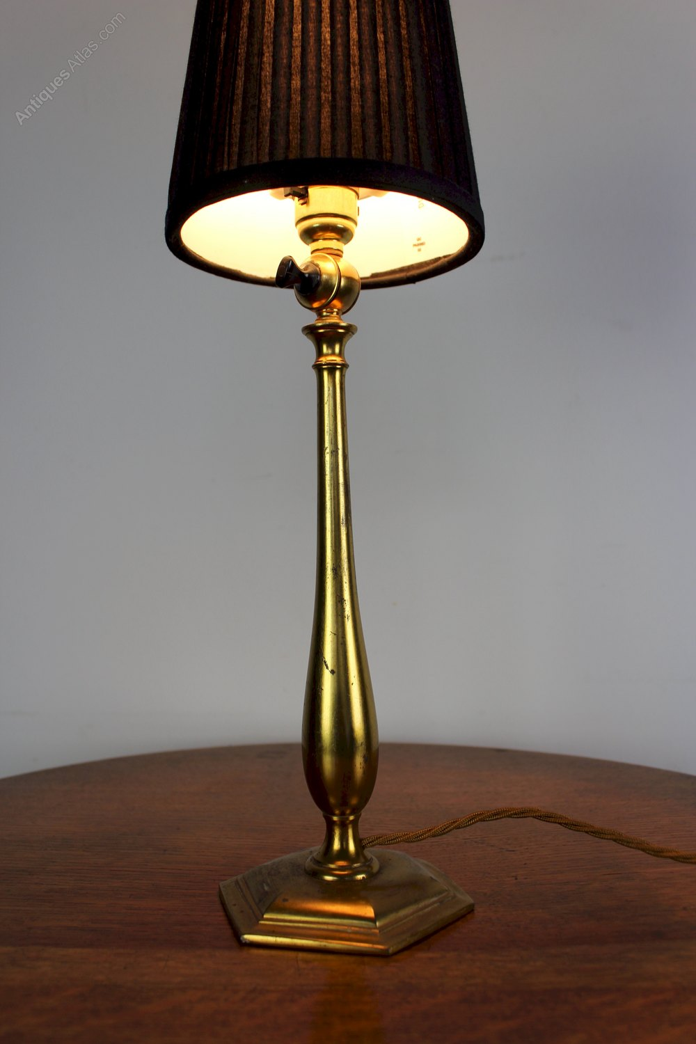 antiques atlas arts and crafts period brass table lamp. Black Bedroom Furniture Sets. Home Design Ideas