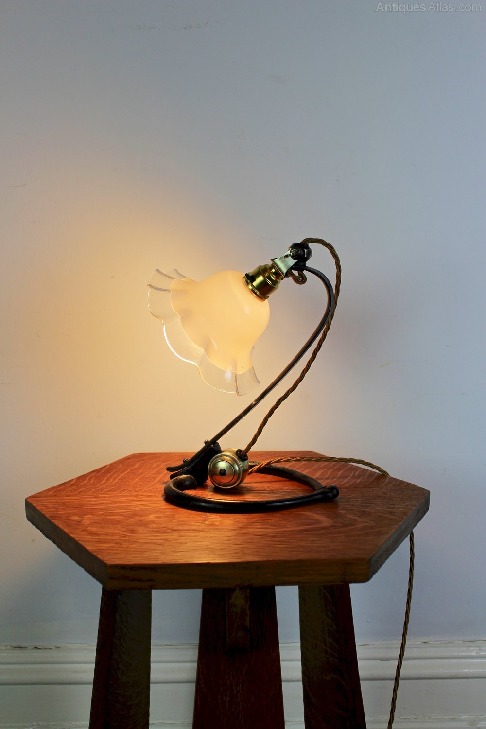 antiques atlas arts and crafts table lamp by w a s benson c1900. Black Bedroom Furniture Sets. Home Design Ideas