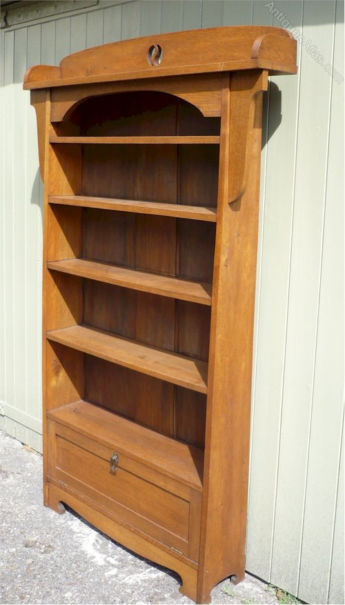 Arts and crafts bookcase antiques atlas for Arts and crafts bookshelf