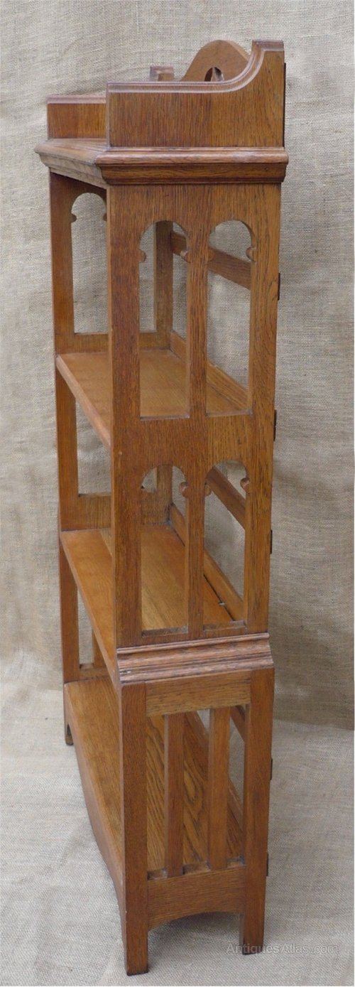 Arts and crafts bookcase in golden oak antiques atlas for Arts and crafts bookcase