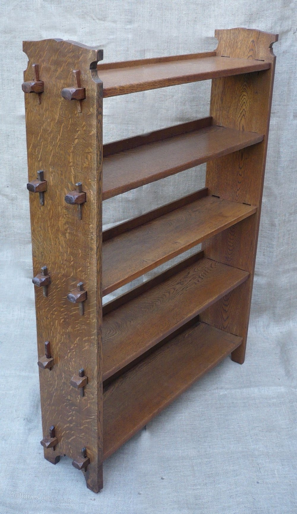 Arts And Crafts Bookcase Of Pegged Construction Antiques