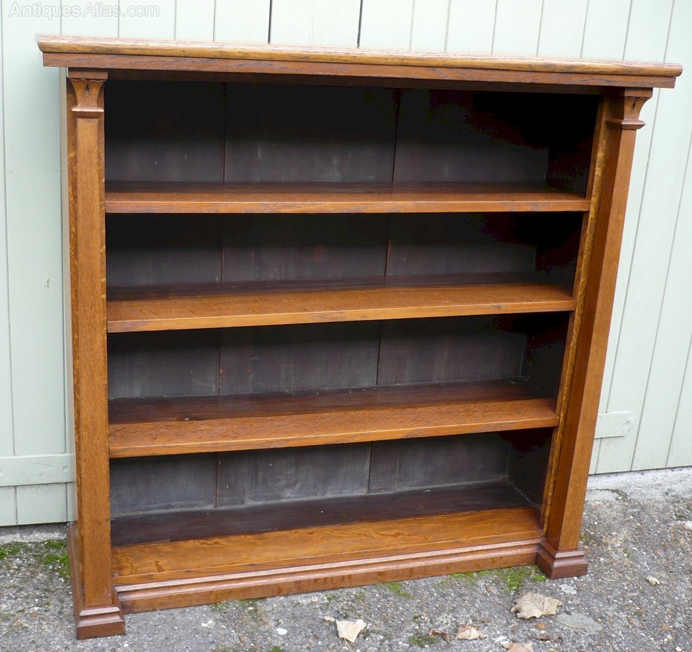 Arts and crafts bookcase with stylized decoration for Arts and crafts bookshelf