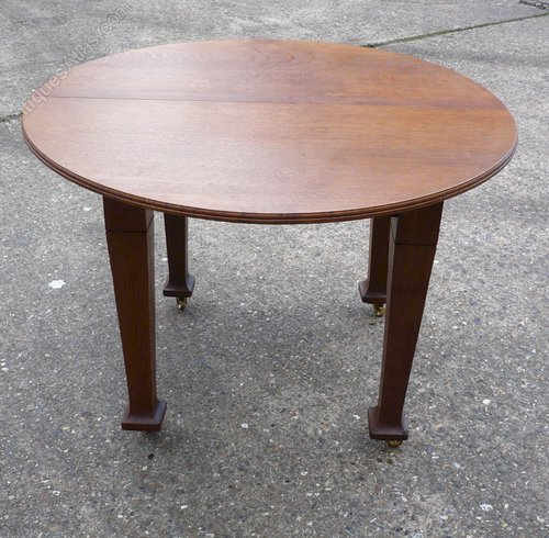 Arts And Crafts Circular Extending Dining Table Antiques Atlas