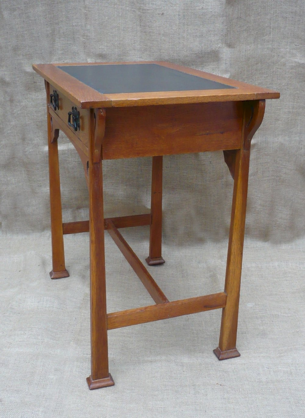 Arts And Crafts Desk In Golden Oak Antiques Atlas