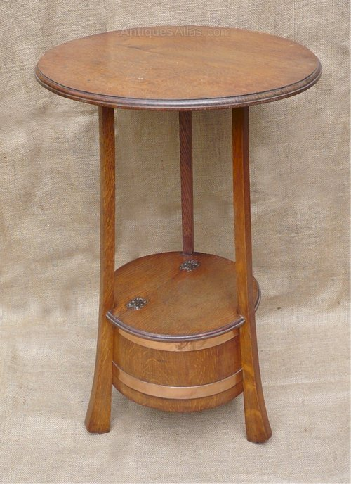Arts and crafts side table by listers of dursley for Arts and crafts side table