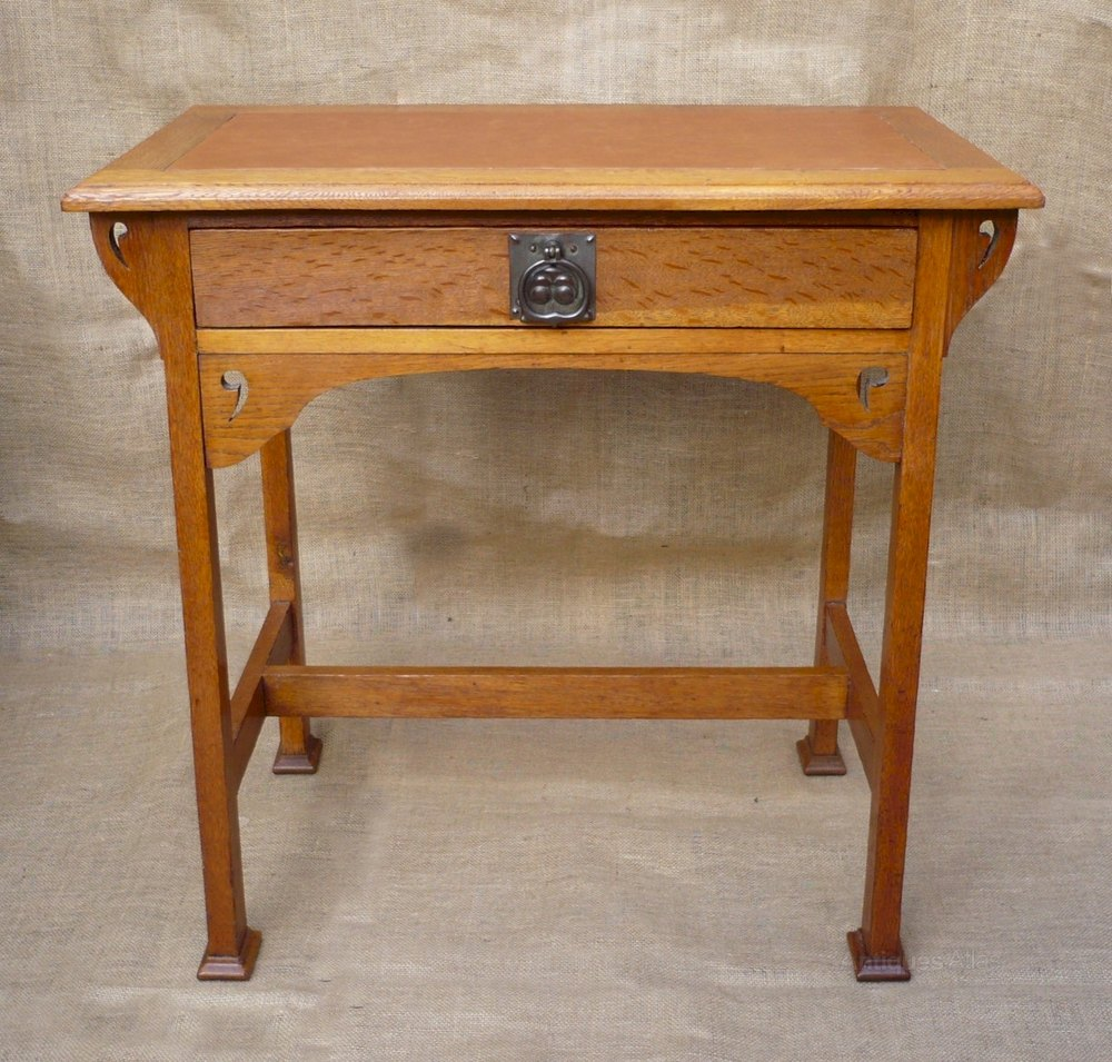 Arts And Crafts Stylised Oak Desk Antiques Atlas