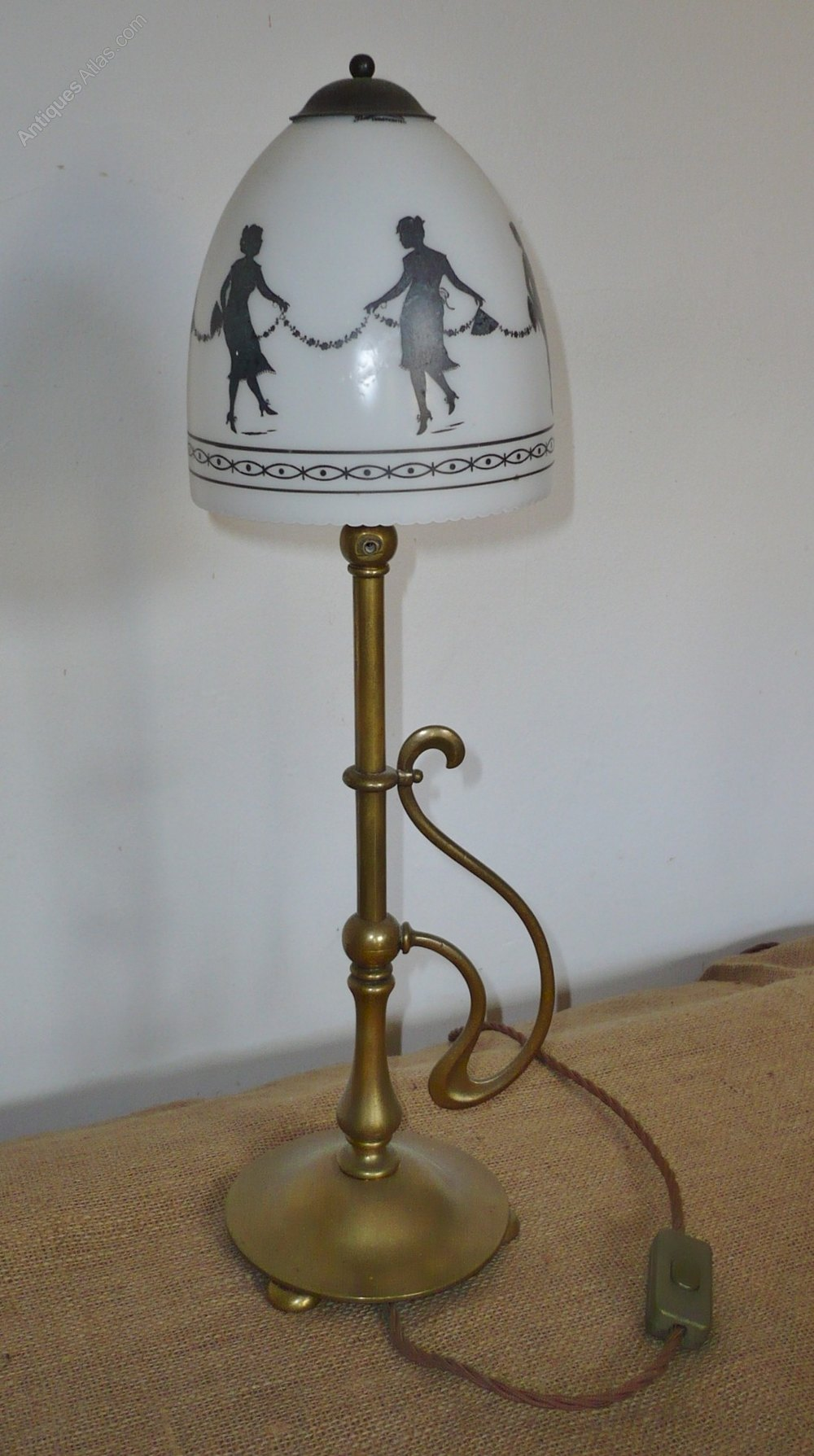antiques atlas arts and crafts table lamp with hand. Black Bedroom Furniture Sets. Home Design Ideas
