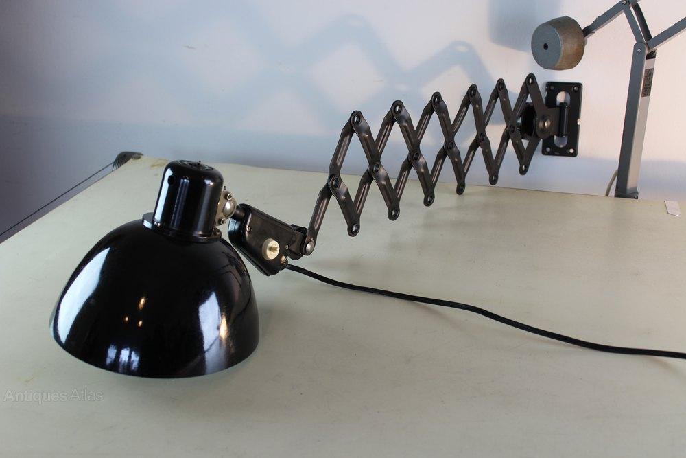 Industrial Scissor Wall Lights : Antiques Atlas - Bauhaus Extending Scissor Industrial Wall Light