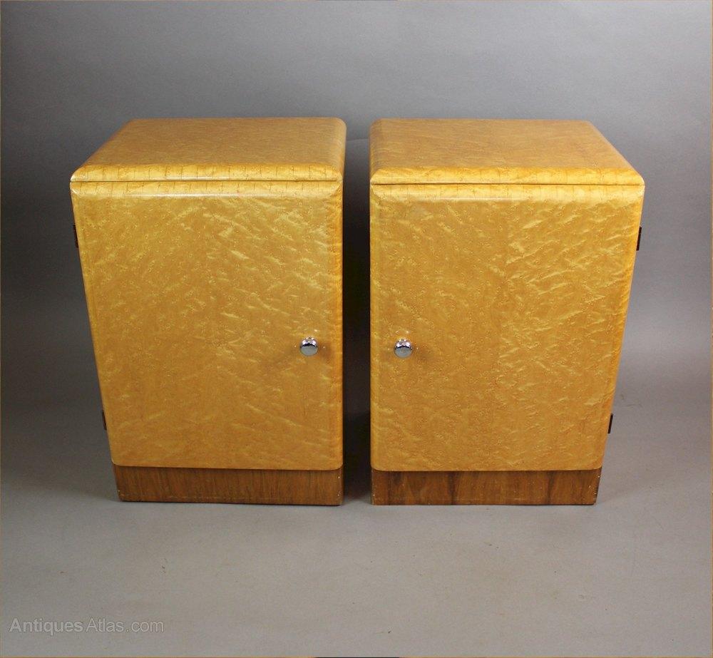 Antiques Atlas Birds Eye Maple Pair Of Art Deco Bedside Cabinets