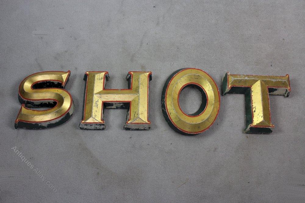 Antiques atlas five vintage shop letters shot for Furniture 5 letters