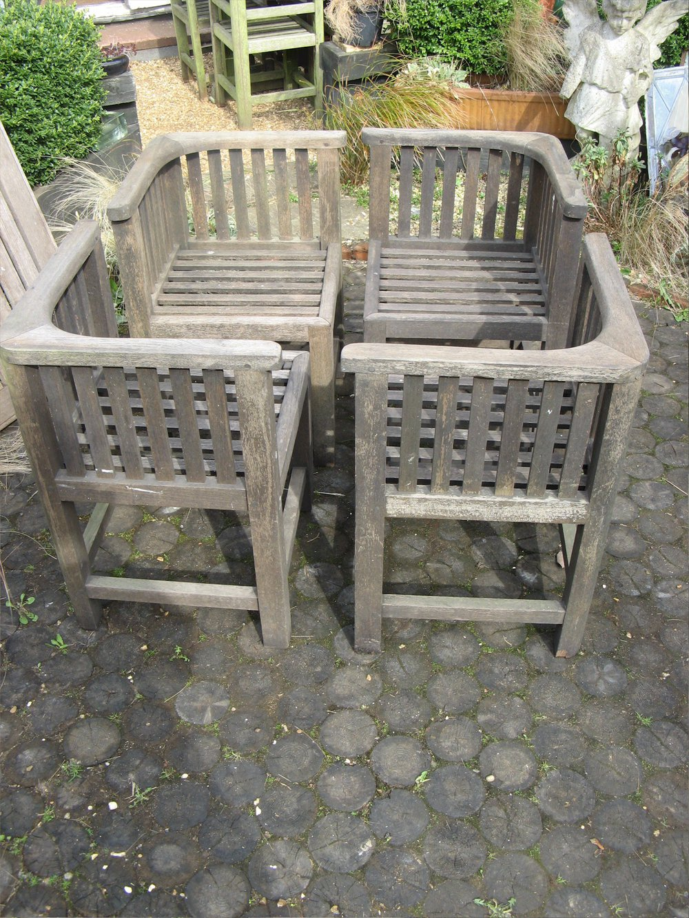 Antiques Atlas Four Vintage Teak Garden Chairs By Hughes