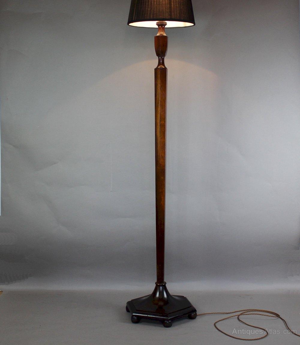 Antiques atlas heals 192039 3039s mahogany standard for Antique mahogany floor lamp
