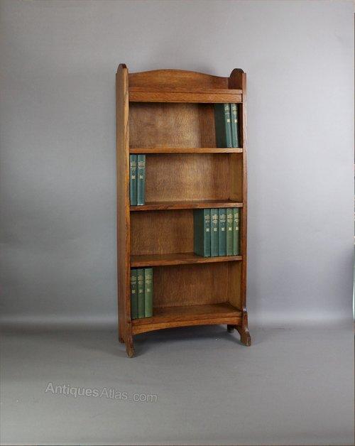 Heals Arts And Crafts Oak Open Bookcase