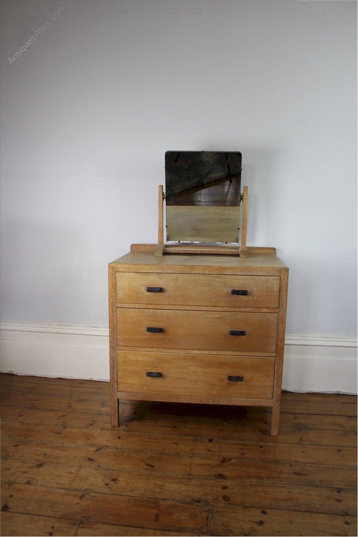Heals Limed Oak Bedroom Swing Mirror
