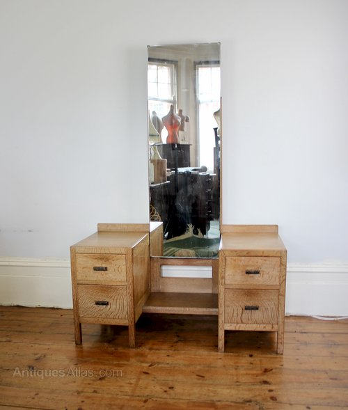 Heals Limed Oak Dressing Table From The 1920's