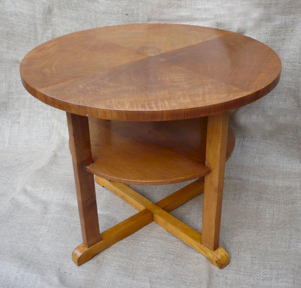 Heals Tea Table In Figured Walnut