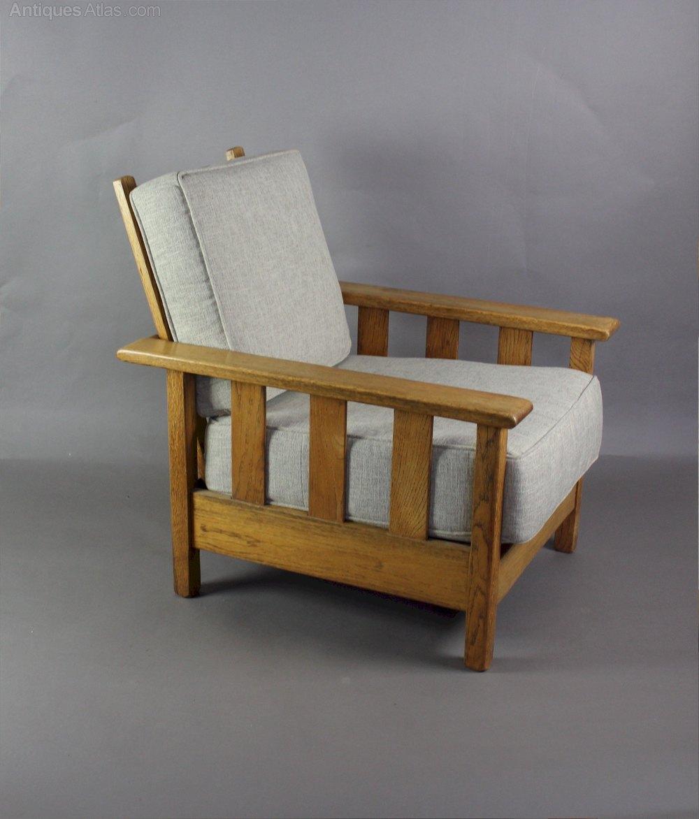In The Manner Of Heals Oak Easy Armchair C1920 30