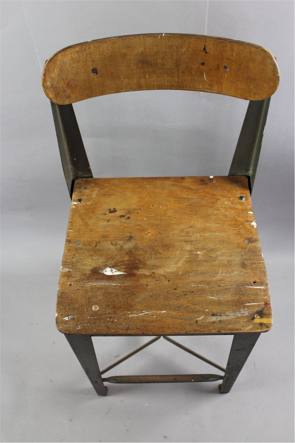 Antiques Atlas Industrial Metal And Plywood High Chair