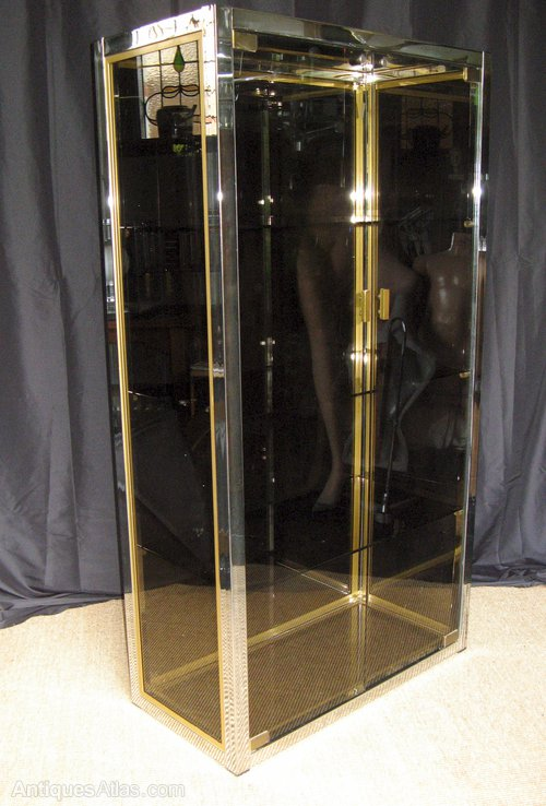 antiques atlas italian 1970 39 s chrome brass and smoked. Black Bedroom Furniture Sets. Home Design Ideas