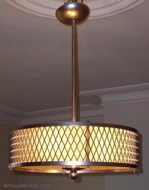 Antiques Atlas Jazzy Art Deco Ceiling Light