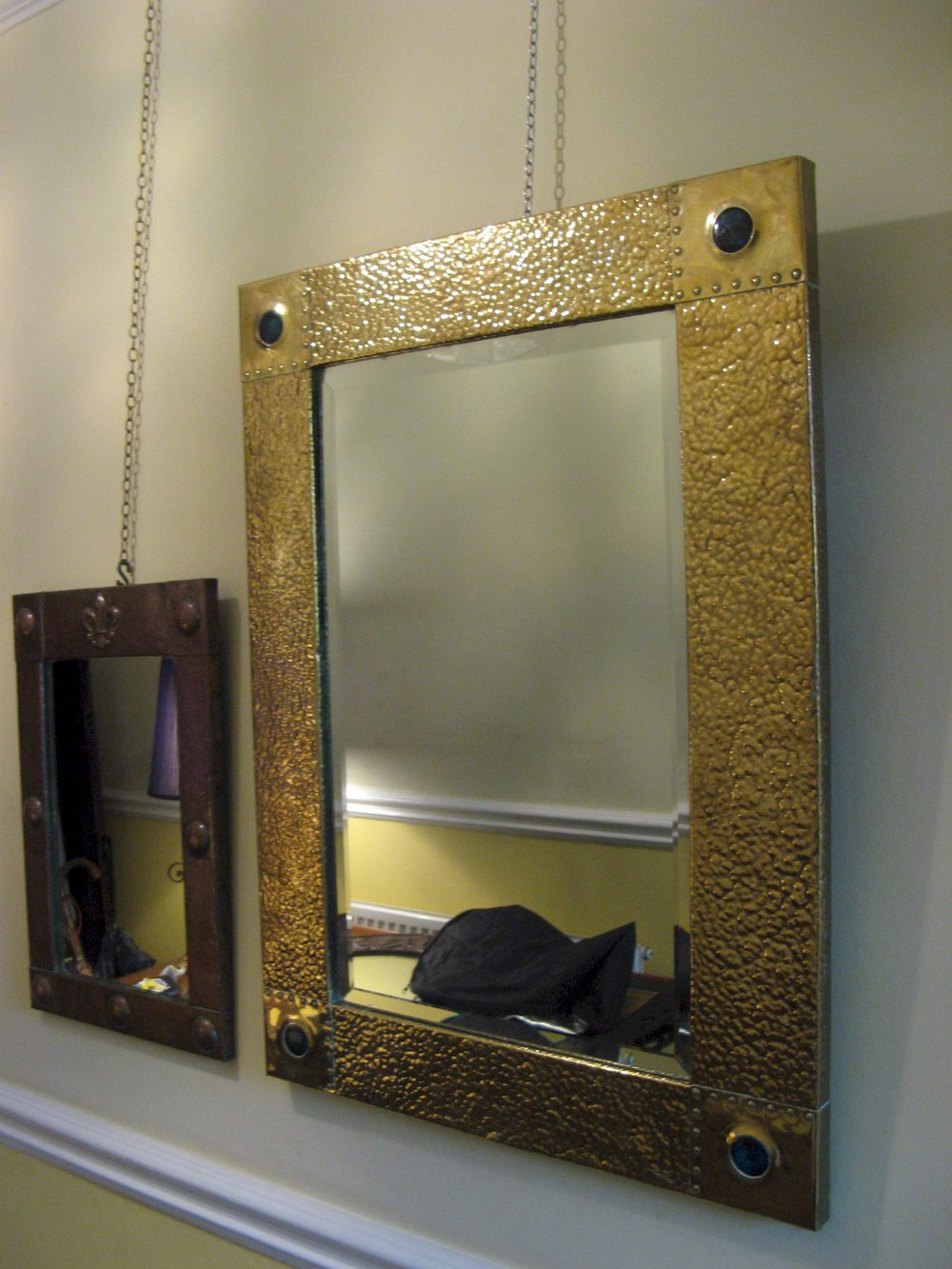 Antiques Atlas Large Arts And Crafts Brass Mirror With