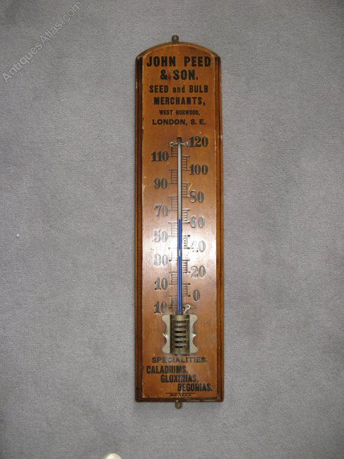 Antiques Atlas Large Old Wooden Advertising Thermometer