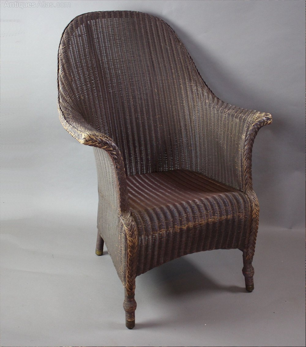 large original lloyd loom armchair c1930 39 s antiques atlas. Black Bedroom Furniture Sets. Home Design Ideas