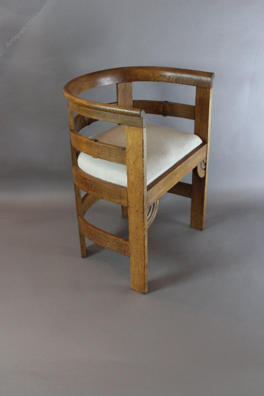 Liberty Co Oak Arts And Crafts Tub Chair Antiques Atlas