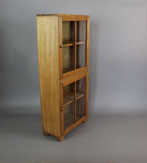 light oak glazed bookcase by heals c1930 antiques atlas