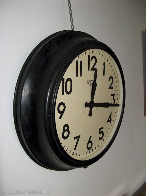 Antiques Atlas Massive Smiths Sectric Industrial Wall Clock