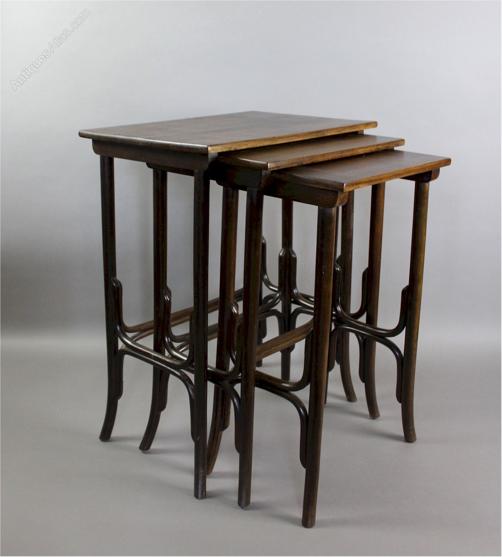 Nest of bentwood tables by thonet antiques atlas