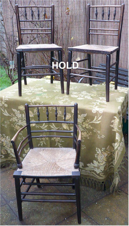 Pair William Morris Sussex Side Chairs Antiques Atlas - William morris chairs
