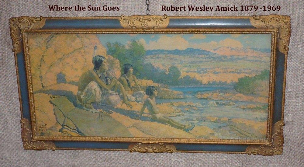 Antiques Atlas Pair Of Prints By Robert Wesley Amick