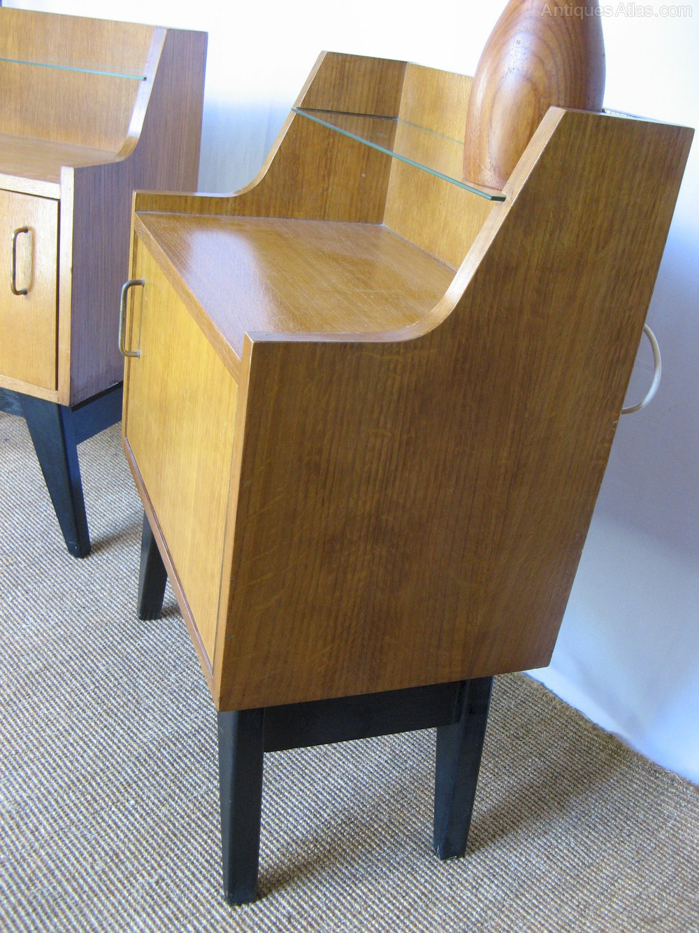 Antiques atlas pair of stylised 1950 39 s bedside cabinets for 12 wide bedside table