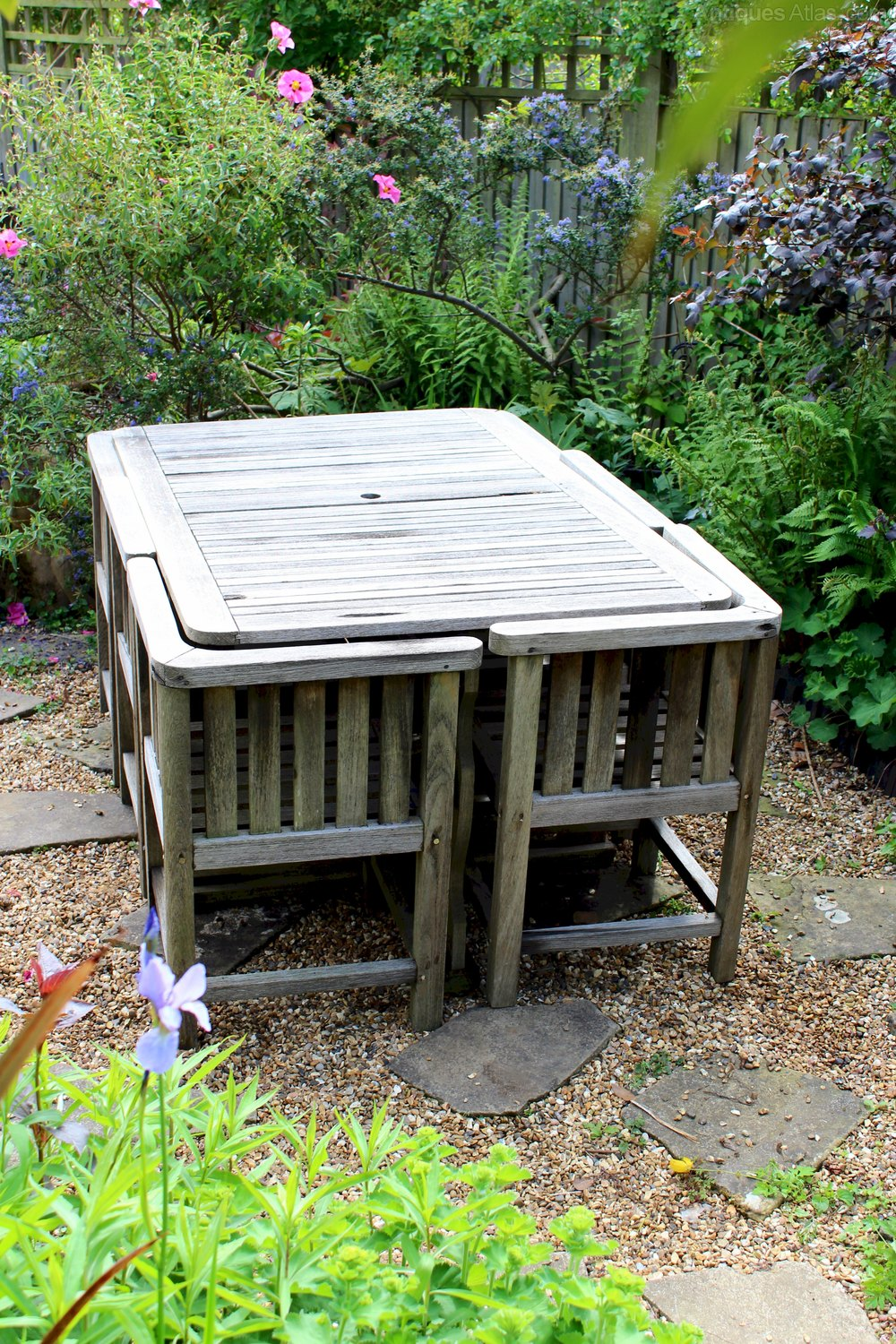 Antiques Atlas - Rare Heals 1930's Garden Table And Six Chairs