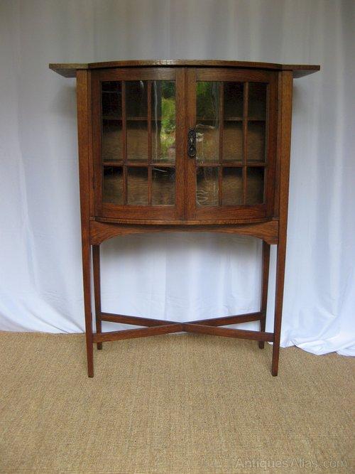 Scottish Arts And Crafts Oak Display Cabinet Antiques Atlas