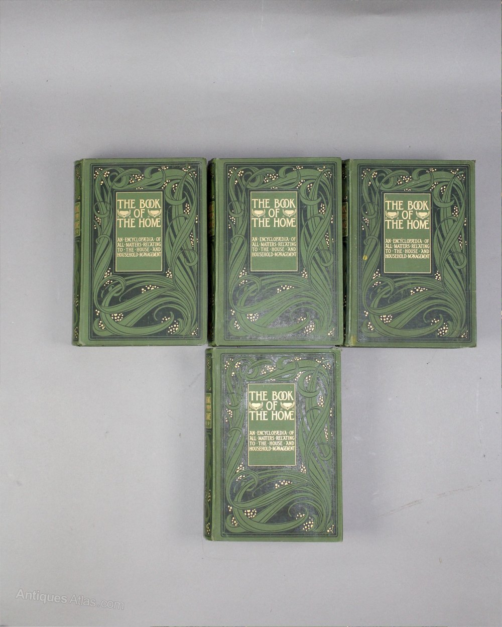 Book Cover Art And Craft ~ Antiques atlas set of four books with arts and crafts covers